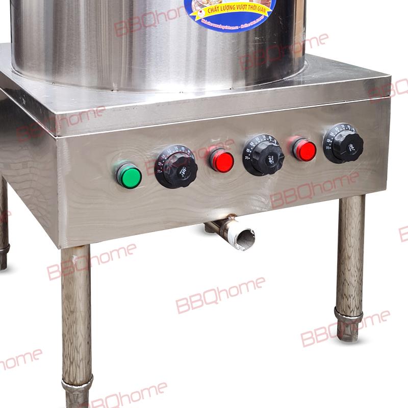 Có núm chỉnh nhiệt, dễ dàng cho việc tắt bật thanh nhiệt và điều chỉnh nhiệt độ của nồi phở