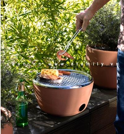 Vừa là chậu hoa, vừa là bếp nướng độc đáo