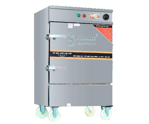 Tủ nấu cơm 8 khay dùng điện, có chế độ hẹn giờ và cài đặt nhiệt độ