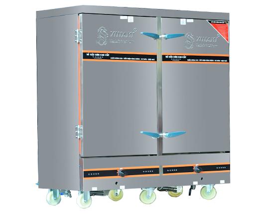 Tủ nấu cơm 24 khay dùng ga điện kết hợp
