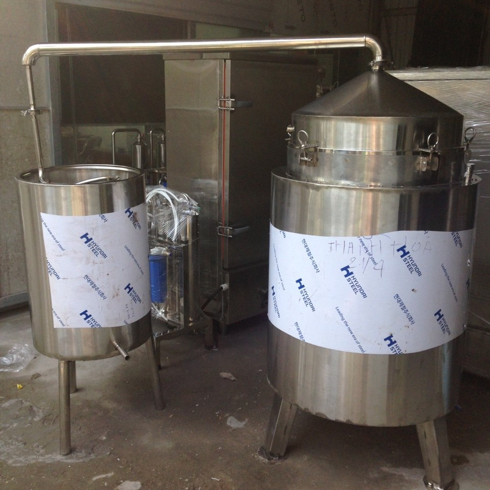 Nồi Nấu Rượu 200 lít ( Nấu 40kg gạo)