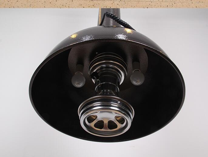 Chao đèn 2 bóng màu đen