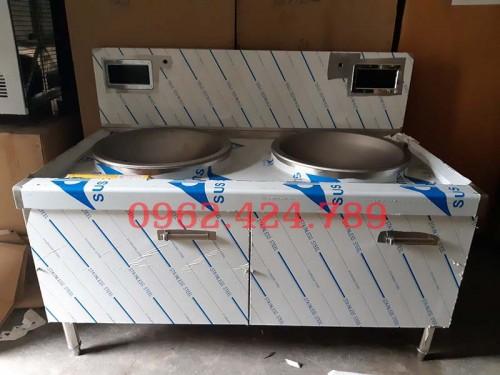 Bếp xào  chảo rời đôi ( chảo inox  phi 500mm) 1 bầu nước