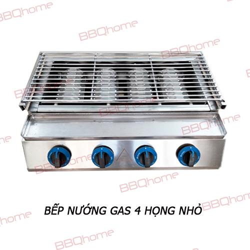 Lò nướng 4 họng nhỏ dùng gas