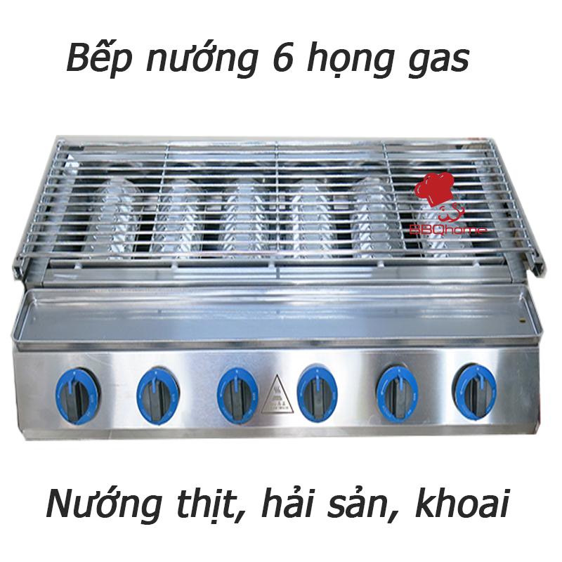Lò nướng 6 họng to dùng gas